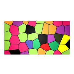 Stained Glass Abstract Background Satin Wrap