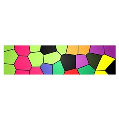 Stained Glass Abstract Background Satin Scarf (Oblong)