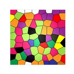 Stained Glass Abstract Background Small Satin Scarf (Square)