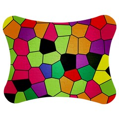 Stained Glass Abstract Background Jigsaw Puzzle Photo Stand (Bow)