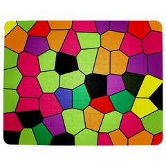 Stained Glass Abstract Background Jigsaw Puzzle Photo Stand (Rectangular)