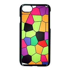Stained Glass Abstract Background Apple iPhone 7 Seamless Case (Black)