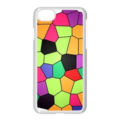 Stained Glass Abstract Background Apple iPhone 7 Seamless Case (White)