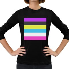 Bigender Flag Women s Long Sleeve Dark T Shirts