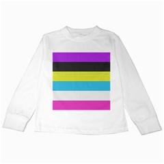 Bigender Flag Kids Long Sleeve T Shirts