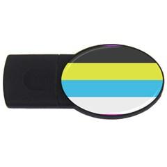 Bigender Flag Usb Flash Drive Oval (4 Gb)