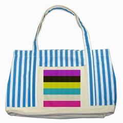 Bigender Flag Striped Blue Tote Bag
