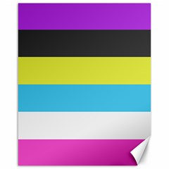 Bigender Flag Canvas 16  X 20