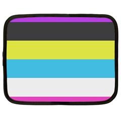 Bigender Flag Netbook Case (Large)
