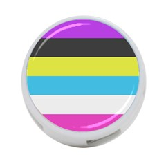 Bigender Flag 4 Port Usb Hub (one Side)