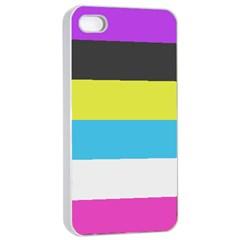 Bigender Flag Apple iPhone 4/4s Seamless Case (White)