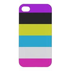 Bigender Flag Apple Iphone 4/4s Premium Hardshell Case