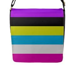 Bigender Flag Flap Messenger Bag (L)