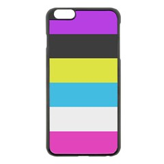 Bigender Flag Apple iPhone 6 Plus/6S Plus Black Enamel Case