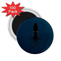 Black Octopus 2.25  Magnets (100 pack)
