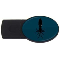 Black Octopus USB Flash Drive Oval (4 GB)
