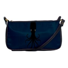 Black Octopus Shoulder Clutch Bags