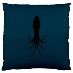 Black Octopus Large Cushion Case (One Side)