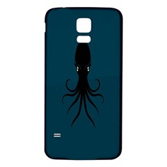 Black Octopus Samsung Galaxy S5 Back Case (White)