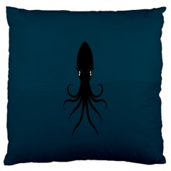 Black Octopus Standard Flano Cushion Case (Two Sides)