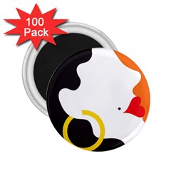 Woman s Face 2.25  Magnets (100 pack)