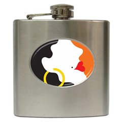 Woman s Face Hip Flask (6 oz)