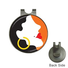 Woman s Face Hat Clips with Golf Markers