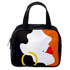 Woman s Face Classic Handbags (One Side)