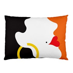 Woman s Face Pillow Case (Two Sides)