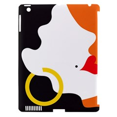 Woman s Face Apple iPad 3/4 Hardshell Case (Compatible with Smart Cover)