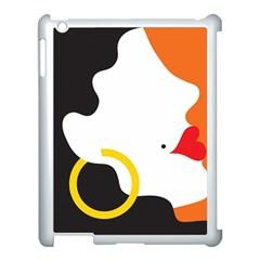 Woman s Face Apple iPad 3/4 Case (White)