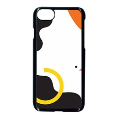 Woman s Face Apple Iphone 7 Seamless Case (black)