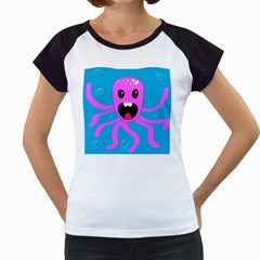 Bubble Octopus Women s Cap Sleeve T