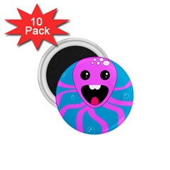 Bubble Octopus 1 75  Magnets (10 Pack)