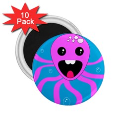 Bubble Octopus 2 25  Magnets (10 Pack)