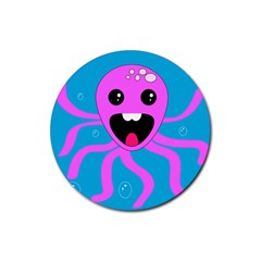 Bubble Octopus Rubber Round Coaster (4 Pack)
