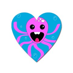 Bubble Octopus Heart Magnet