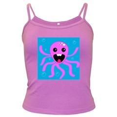 Bubble Octopus Dark Spaghetti Tank