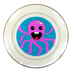 Bubble Octopus Porcelain Plates