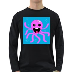 Bubble Octopus Long Sleeve Dark T Shirts
