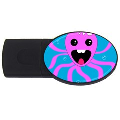 Bubble Octopus Usb Flash Drive Oval (4 Gb)