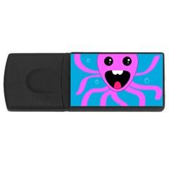 Bubble Octopus USB Flash Drive Rectangular (4 GB)