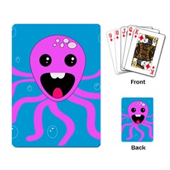 Bubble Octopus Playing Card