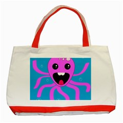 Bubble Octopus Classic Tote Bag (Red)