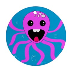 Bubble Octopus Round Ornament (two Sides)