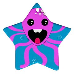 Bubble Octopus Star Ornament (two Sides)