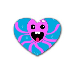 Bubble Octopus Rubber Coaster (heart)