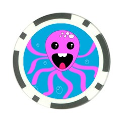 Bubble Octopus Poker Chip Card Guards
