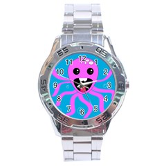 Bubble Octopus Stainless Steel Analogue Watch