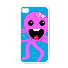 Bubble Octopus Apple Iphone 4 Case (white)